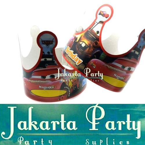 Foto Produk Topi Ultah Mahkota Cars / Topi Ultah Cars / Topi Ulang Tahun dari Jakarta Party