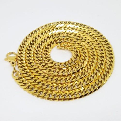 Foto Produk Kalung Pria Rantai Titanium Original Varian Warna - Kuning dari Central Grosir Gemstone