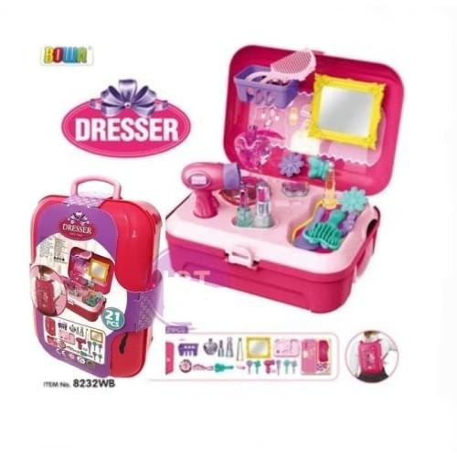 Foto Produk Kado Mainan Anak Cewek Perlengkapan Make Up salon Dresser Backpack dari OyaOna Shop