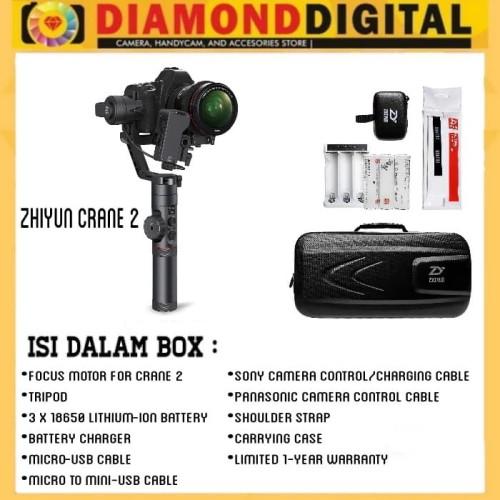 Foto Produk Zhiyun Crane 2 3-Axis Gimbal Stabilizer with follow focus dari Diamond Digital88