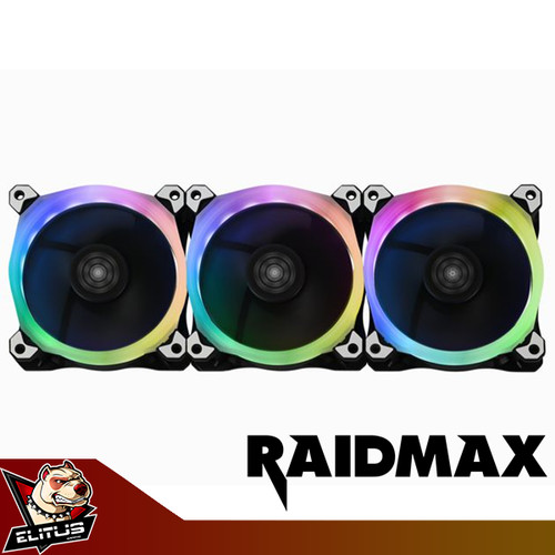 Foto Produk Raidmax NV-R120FBR3 Addressable RGB LED Control Pack 120mm 3 Fan dari ELITUS GAMING