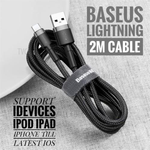 Foto Produk BASEUS KABEL CHARGER IOS LIGHTNING IPHONE ALL IOS 2M ORIGINAL - Hitam dari mecan shop