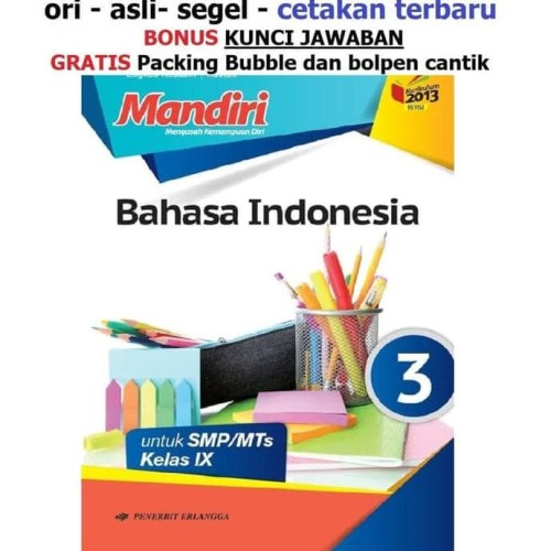 Jual Buku Mandiri Erlangga Bahasa Indonesia Kelas 9 Smp Kunci Jawaban Jakarta Barat Erlanggaa Jaya Tokopedia