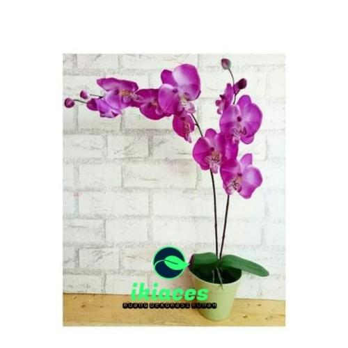 Foto Produk Buket Bunga Plastik Artificial Bunga Palsu Bunga Anggrek Dekorasi dari ikiaces