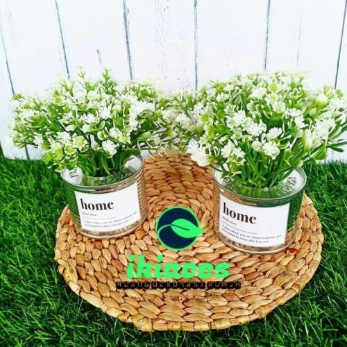 Foto Produk BUNGA PLASTIK ARTIFICIAL BUNGA BABY BREATH BUNGA PALSU DEKORASI RUMAH dari ikiaces