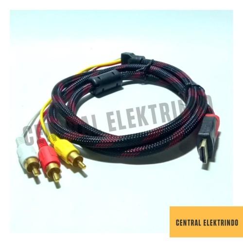 Foto Produk Kabel HDMI to RCA @1,5m GOLD PLATED dari Centralelektrindo