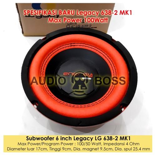 """Foto Produk Speaker Subwoofer 6 Inch 6in 6"""" Legacy 6 638 LG 638-2 150 Watt dari Audio Boss"""