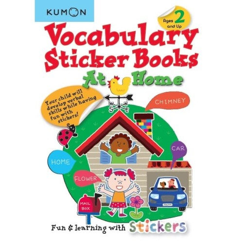 Foto Produk Buku Anak - Kumon - Vocabulary Sticker Books: At Home dari Kumon Publishing INA