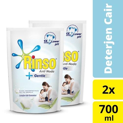 Foto Produk Rinso Detergen Cair Gentle 700Ml Twin pack dari Unilever Official Store