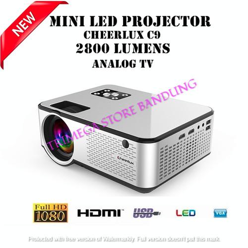 Foto Produk Proyektor Projector Cheerlux C9 Built in TV Tuner 2800 Lumens dari Trimega Store BDG