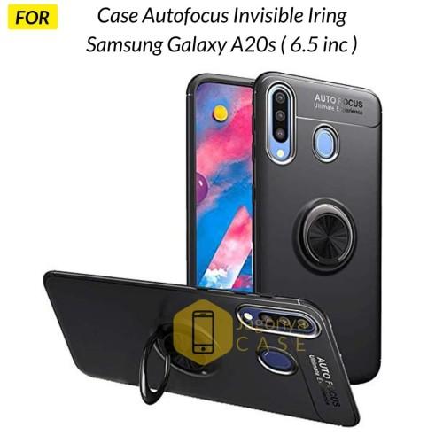 Foto Produk Case Samsung Galaxy A20s Autofocus Invisible Iring Soft Case - Hitam dari Jagonya Case