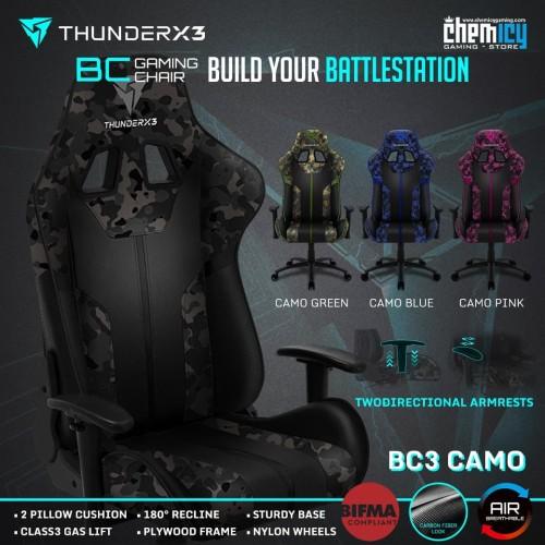 Foto Produk ThunderX3 BC3 CAMO Gaming Chair - Abu-abu dari Chemicy Gaming