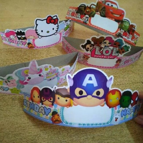 Foto Produk Topi Ulang Tahun Anak / Topi Karakter / Crown Kertas Karakter - Avengers dari Balloonia