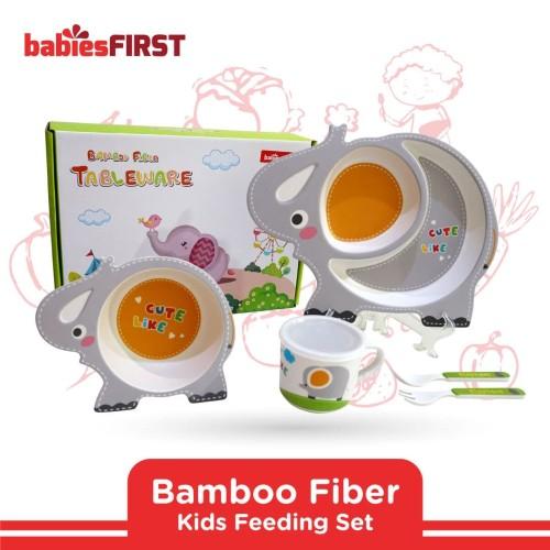 Foto Produk babiesFIRST - BAMBOO FEEDING SET 3D ANIMAL EDITION BF504 ELEPHANT dari KSM Baby and Kids