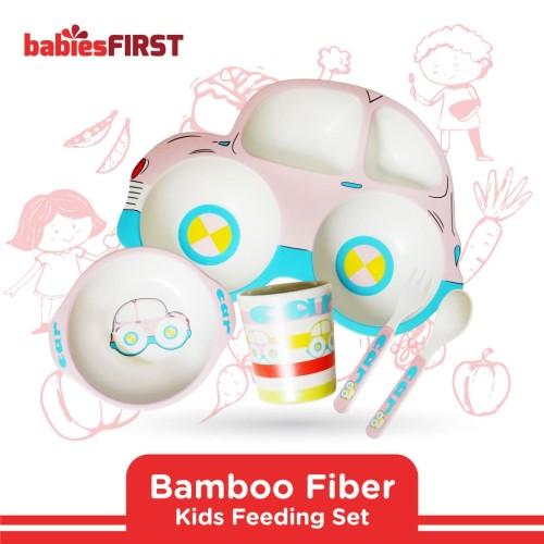 Foto Produk babiesFIRST - BAMBOO FEEDING SET CAR EDITION BF503 PINK dari KSM Baby and Kids