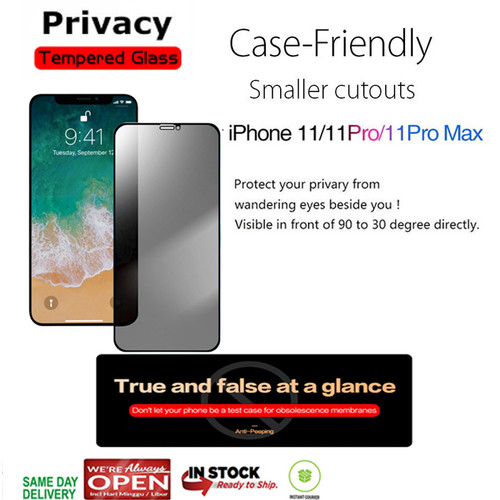 Foto Produk iPhone 11 Pro Max / 11 Pro / 11 Privacy Antispy Tempered Glass - iPhone 11 Pro dari Spigen Indonesia