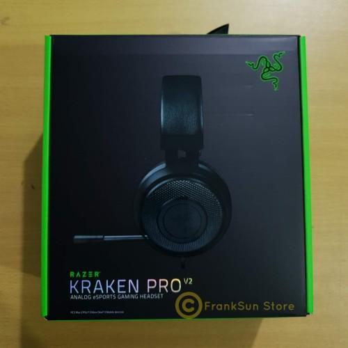 Foto Produk Headset Razer Kraken Pro v2 ESPORT Gaming Headset Black Hitam dari FrankSun Store