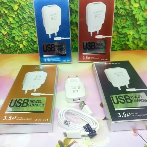 Foto Produk Charger casan Handphone branded/merk 3.5A ASL-001 1usb dari Max805