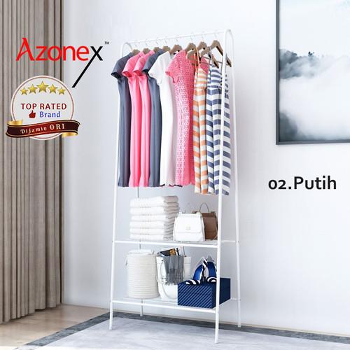 Foto Produk Rak Gantung Serbaguna / Rak Baju Gantung Portable / Stand Hanger Jemur - Putih dari Azonex