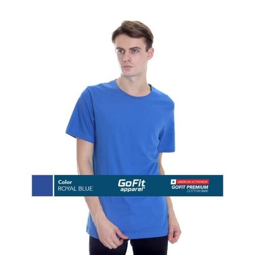 Foto Produk GoFit Premium Cotton 8600 ROYAL BLUE size L dari Gofit Apparel