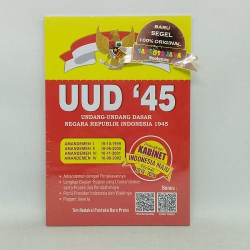 Foto Produk UUD 1945 Dilengkapi Kabinet Indonesia Maju Periode 2019-2024 dari Santoso Jaya Bookstore