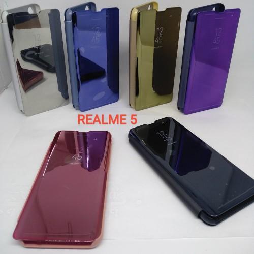 Foto Produk Clear View Realme 5 Flip Cover Realme 5 Standing Cover Mirror Case dari LOTUS ACCESORIESS