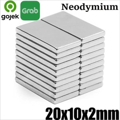 Foto Produk Magnet Super Neodymium Kepingan persegi kotak NdFeB 20 x 10 x 2 mm dari Kiddies World