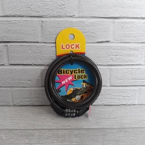 Foto Produk Gembok Kabel Sepeda, Helm, Motor / Gembok Kabel / Gembok Sepeda dari Vermilion Mall