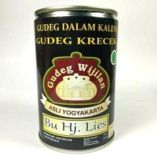 Foto Produk Gudeg Kaleng Krecek Wijilan Bu lies - 300Gram dari Gudeg Kaleng Bu Tjitro