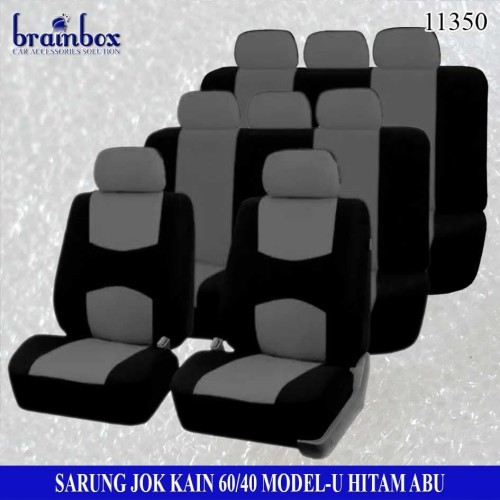 Foto Produk Sarung Jok Kain 3 Baris 60-40 Model-U Abu Sarung Jok Innova Mobilio dari Brainbox Car and Home