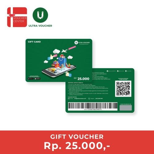 Foto Produk Ultra Voucher Fisik Rp 25.000 (Special Gift Card) dari Ultra Voucher