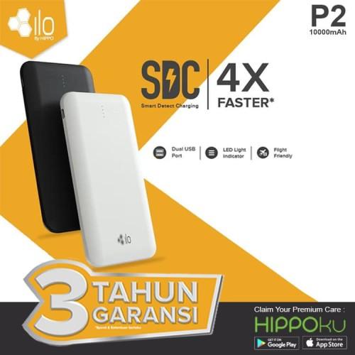 Foto Produk Hippo Power Bank Ilo P2 10000 mAh Simple Pack - Putih dari iLo Official Store