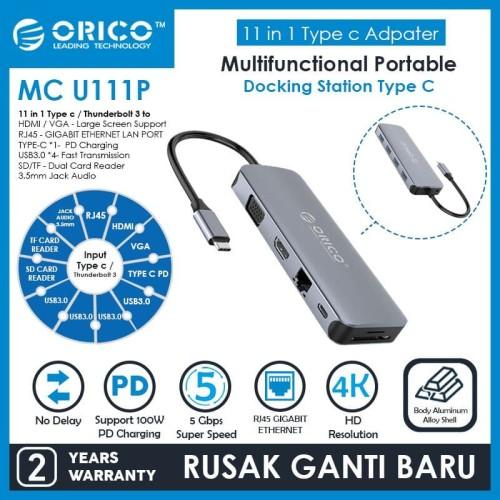Foto Produk ORICO 11in1 Type-C Multifunction Docking Station - MC-U111P dari ORICO INDONESIA