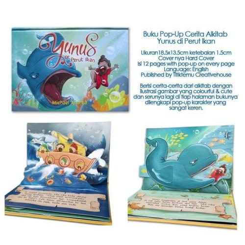 Foto Produk Buku Pop-Up Cerita Alkitab Yunus di Perut Ikan dari HappyBunnyBooks