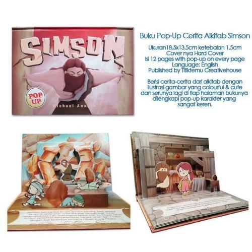 Foto Produk Buku Pop-Up Cerita Alkitab Simson dari HappyBunnyBooks