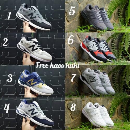 Foto Produk Sneakers New B size 39 - 43 sepatu pria olahraga abu hitam navy - Satu, 39 dari eno ajjh