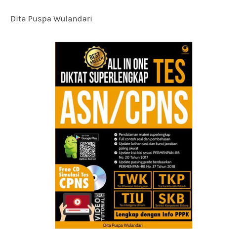 Jual All Ine One Diktat Superlengkap Tes Asn Cpns New Edition Kab Tangerang Dzyshoping Tokopedia