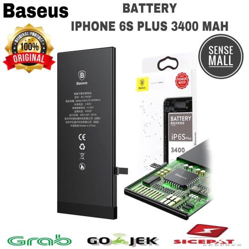 Foto Produk BATT BATERAI BATTERY BASEUS IPHONE 6S PLUS / 3400MAH ORIGINAL BASEUS - Hitam dari Sense mall