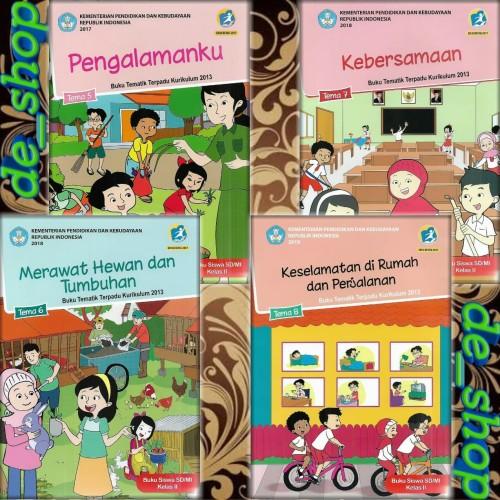 Foto Produk Buku Tematik SD Paket Kelas 2 Tema 5678 dari De__shop