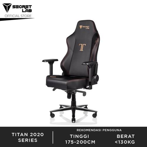 Foto Produk Secretlab TITAN 2020 Series PRIME PU Leather Kursi Gaming - Stealth dari Secretlab