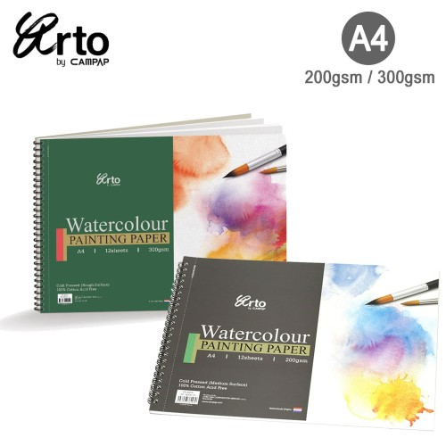 Foto Produk Arto A4 Cotton Watercolor Wire-O Book - 200 GSM dari Artemedia Shop