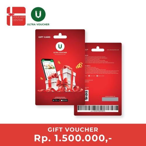 Foto Produk Ultra Voucher Fisik Rp 1.500.000 (Special Gift Card) dari Ultra Voucher