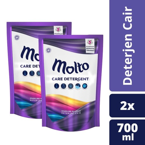 Foto Produk Molto Detergent Sparkling Glamour 700Ml Twin Pack dari Unilever Official Store