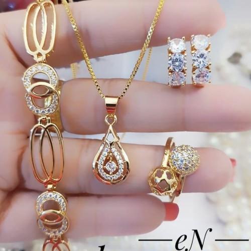 Foto Produk Set perhiasan xuping lapis emas 24k 1236 dari kevin joshe