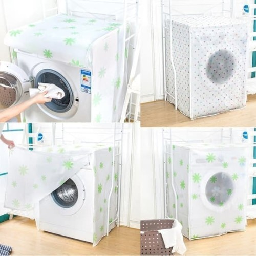 Foto Produk Sarung Penutup Mesin Cuci Bukaan Depan PEVA Washing Machine Cover - Bear dari Home Diaries