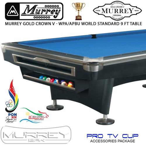Foto Produk Murrey Gold Crown V Pro TV 9 ft Pool Table - Meja Billiard Biliar Asli dari ISAK Billiard Sport Co.