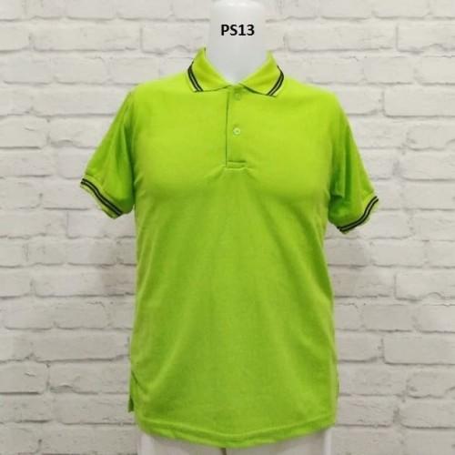 Foto Produk polo shirt hijau lis hitam - Hijau, M dari Raja Polo Shirt