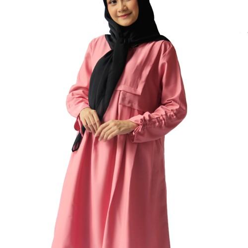Foto Produk Blous | Baju Wanita | Tunik Rampel dusty pink | Baju Murah dari ASNstore.id