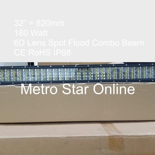 "Foto Produk LED Light Bar 4 Row 32"" 180w 6D Lens Spot Flood Combo Beam dari Metro Star Online"