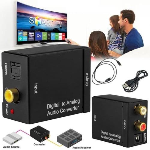 Foto Produk Digital to Analog Audio Converter Toslink Optical/Coaxial to RCA TV dari Rumix